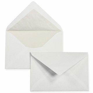 PREMIUM Briefumschläge C6 weiss, gefüttert (25 Stück) weiß mit Innenfutter / Seidenfutter