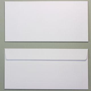 PREMIUM Briefumschläge Leinen (25 Stück) Hochwertige Umschläge DIN lang mit feiner Leinenprägung