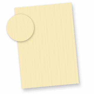 Büttenpapier A4 wildgerippt elfenbein (25 Blatt) dickes 115 g/qm Bütten Briefpapier ca. A4 mit Büttenrand und wellenartiger Rippung