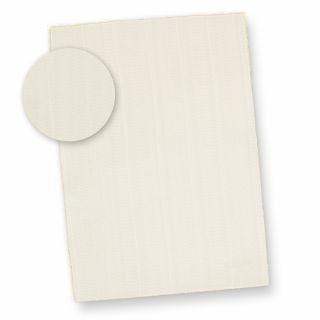 Feines Büttenpapier A4 wildgerippt (25 Blatt) dickes 115 g/qm Bütten Briefpapier ca. A4 mit Büttenrand und wellenartiger Rippung