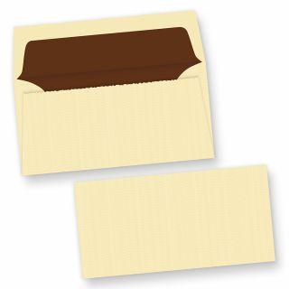 Büttenumschläge wildgerippt elfenbein (25 Stück) edel hochwertige Briefumschläge Bütten DIN lang, mit Innenfutter und wellenartiger Rippung