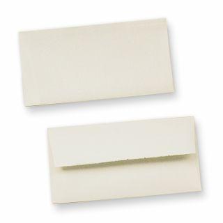Büttenumschläge wildgerippt (25 Stück) edel hochwertige Briefumschläge Bütten DIN lang, mit Innenfutter und wellenartiger Rippung