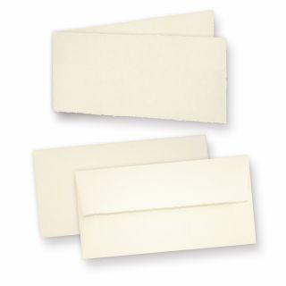 Einladungskarten Bütten (10 Sets) Karten mit Büttenrand und dick gefütterte Briefumschläge