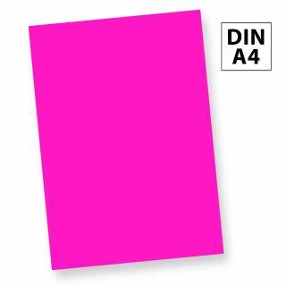Neonpapier NEON PINK (50 Blatt) DIN A4, 80 g/qm farbiges Briefpapier, Leuchtpapier