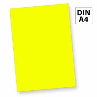 Neonpapier NEON Gelb (50 Blatt) DIN A4, 80 g/qm farbiges Briefpapier, Leuchtpapier