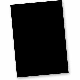 Briefpapier Tief-Schwarz A4 (20 Blatt)  inkl. EDDING Silber-Lackstift, 120 g/qm Tonpapier beidseitig Tiefschwarz auch als Bastelpapier