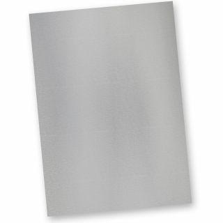 EXKLUSIV Tonpapier Silber (20 Blatt) Metall-Silberoptik DIN A4, 120 g/qm, hochwertiges Briefpapier Bastelpapier