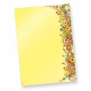 EDITION Flower Power Briefbogen (50 Blatt) Das ist unsere Blumem-Edition, beidseitig bedruckt von Tatmotive-Briefpapier