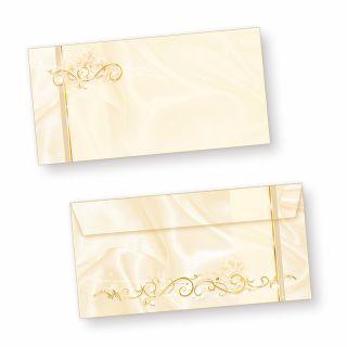 Briefumschläge creme (50 Stück) Elegante DIN lang Kuverts, für Einladungen Hochzeit