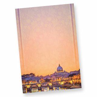 Briefpapier Petersdom Rom (50 Blatt) beidseitig wunderschön bedrucktes A4 Schreibpapier mit dem Sankt Peter im Vatikan in Rom