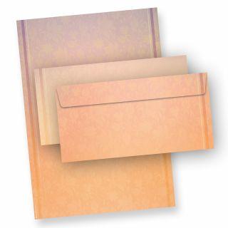 Briefpapier HARMONIE (25 Sets inkl. Kuverts) beidseitig bedruckt mit harmonischen Farben