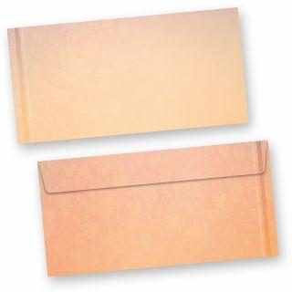 Briefumschläge Harmonie (50 Stück) beidseitig bedrucktes DIN lang Kuverts, in besonders harmonischen Farben