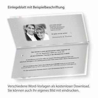 Blätter für Einladung Silber (10 Blatt) nur Einlegeblätter zum Nachbestellen
