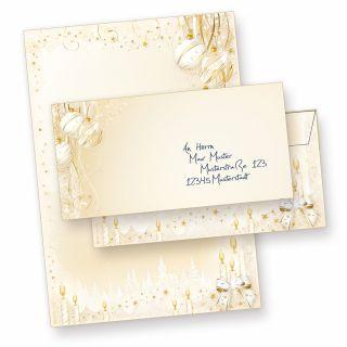 Weihnachtsbriefpapier Weihnachtsmärchen (10 Sets ohne Fenster) anmutiges Briefpapier Weihnachten DIN A4 mit Umschlägen bedruckt