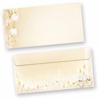 Briefumschläge Weihnachten Märchen (50 Stück ohne Fenster) Din lang ohne Fenster Umschläge für Weihnachten selbstklebend haftklebend
