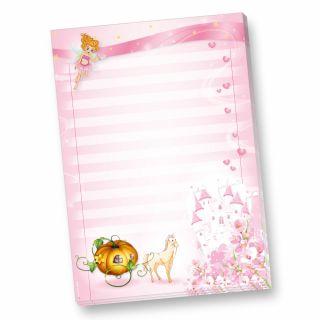 Schreibblock Prinzessin Rosanell (4 Blöcke) süße Schreibblöcke DIN A4 für Mädchen