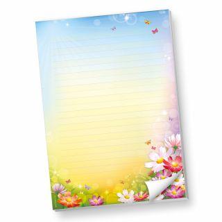 Schreibblock DIN A4 liniert Florentina (1 Stück) Briefpapier-Block bunt mit herlichen Blumen