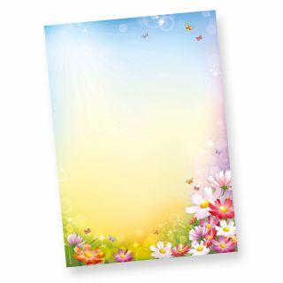 FLORENTINA Briefpapier (20 Blatt)  DIN A4 297 x 210mm 90 g/qm, Briefpapier mit Blumen bunt
