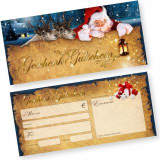 Gutscheine Weihnachten Nordpol Express (25 Stück) einfach Werte eintragen und stempeln, für Gewerbe aller Art