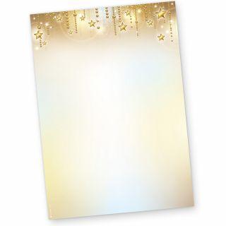 Briefpapier Weihnachten STARDREAMS (50 Blatt) feines Weihnachtsbriefpapier Motiv