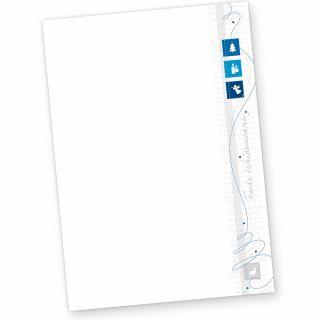 Blue Modern Art 50 Blatt Weihnachtsbriefpapier geschäftlich für Firmen