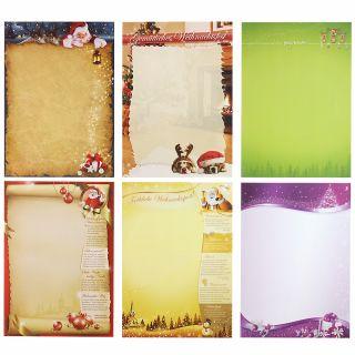 Briefpapier Mix Weihnachten WM01 6 x 10 Blatt gemischte Briefpapiersammlung