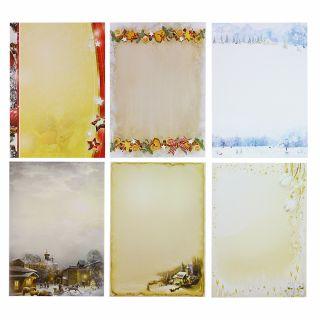 Briefpapier Mix Weihnachten WM02 6 x 10 Blatt gemischte Briefpapiersammlung