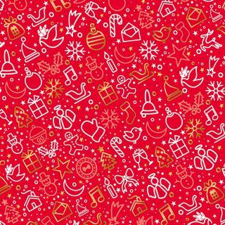 Geschenkpapier Weihnachten Rot 10 Bogen Weihnachtspapier Bogen DIN A2 (gefalzt geliefert auf DIN A4)