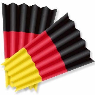 Klatschpappen - Fan-Klatsche - Klatschfächer Deutschland -10 Stück