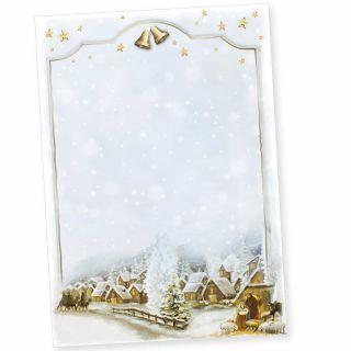 Weihnachtsdorf 50 Blatt Weihnachtsbriefpapier geschäftlich für Firmen