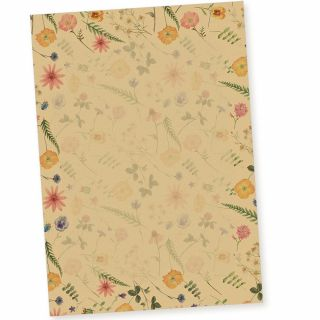 Flora-Natura Briefpapier Vintage Blumen 20 Blatt DIN A4 90 g/qm beidseitig floral nachhaltig gedruckt