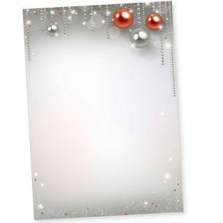 Gala-Design 50 Blatt Briefpapier Weihnachten A4, Weihnachtsbriefpapier für Firmen