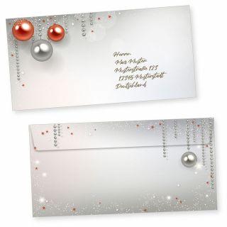 Gala Design 50 Briefumschläge Weihnachten ohne Fenster Umschlag selbstklebend haftklebend