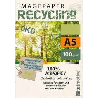 TATMOTIVE Imagepaper Öko-Recycling-Papier 100g/qm A5, FSC-zertifiziert, geeignet für alle Drucker, 500 Blatt Kopierpapier, Druckerpapier