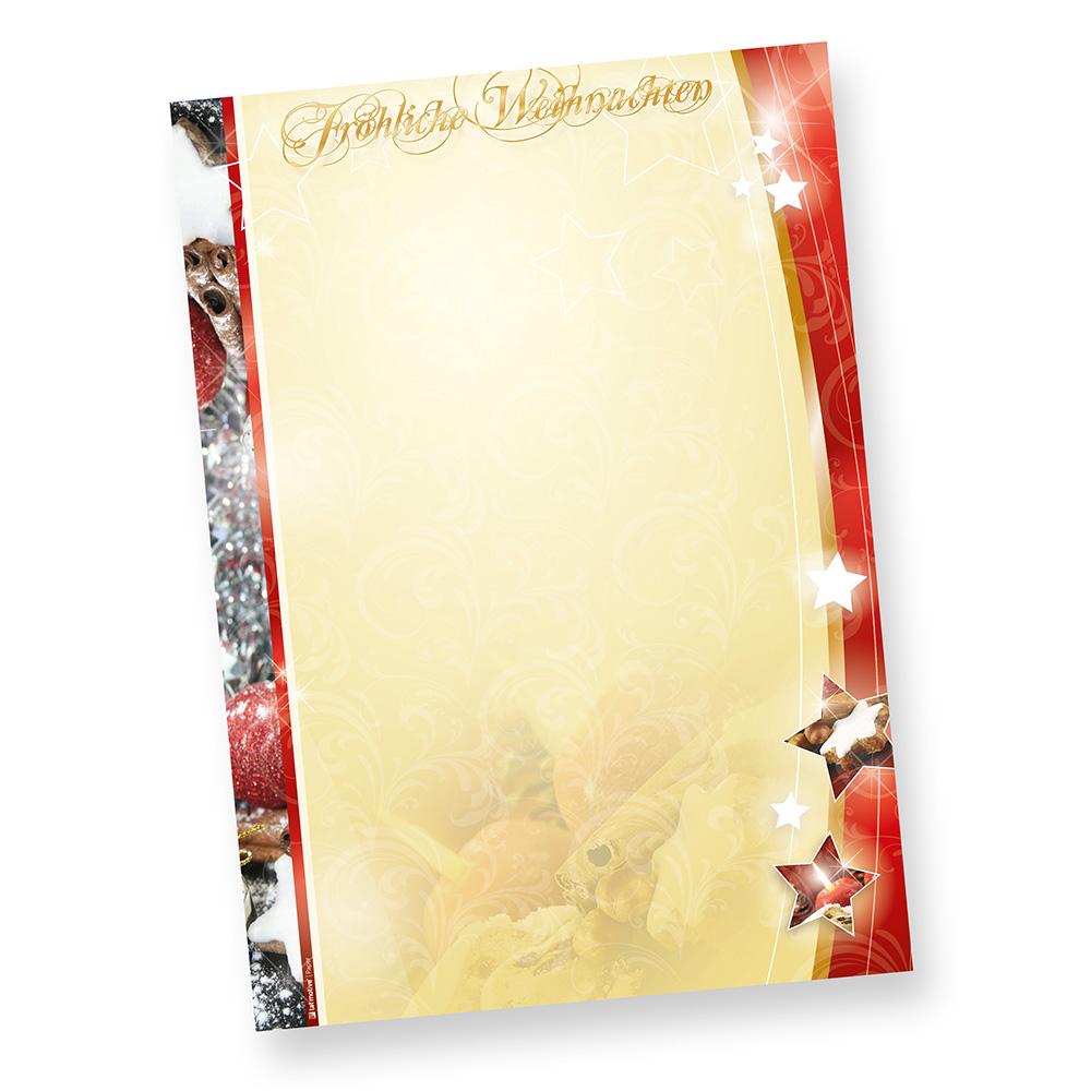 Weihnachtpapier Lebkuchen 1-seitig (20 Blatt)  DIN A4