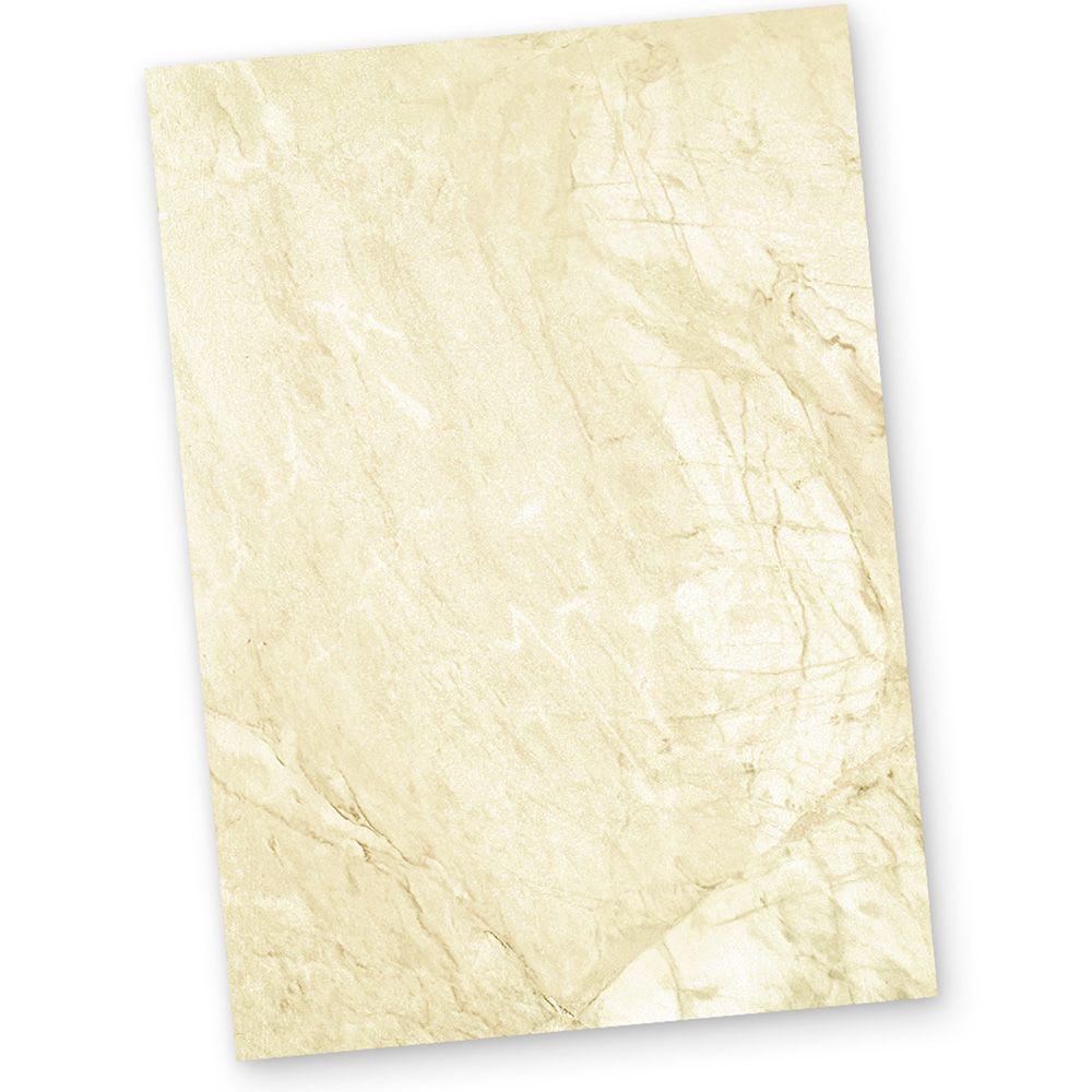 TOP SCHNÄPPCHEN ANGEBOT Briefpapier marmoriert DIN A4 braun oder blau grau