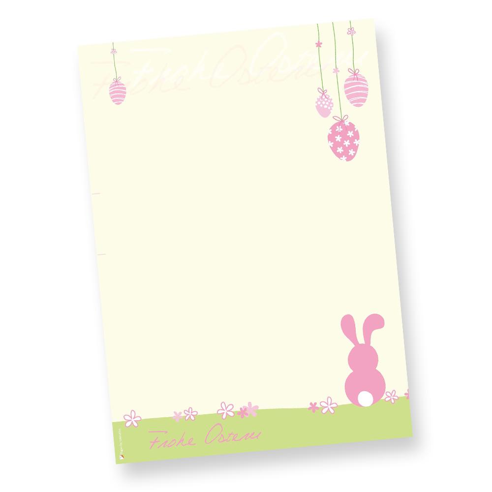 Briefpapier ostern rosa 50 st ck vorlagen design din a4 - Briefpapier vorlagen kostenlos ...