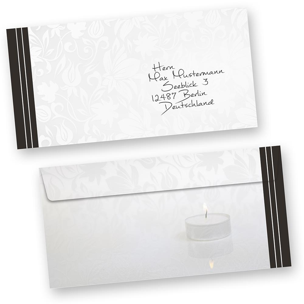 Briefumschlag Beschriften Für Trauerkarte : Sofortkauf danksagung trauerkarten karten trauer