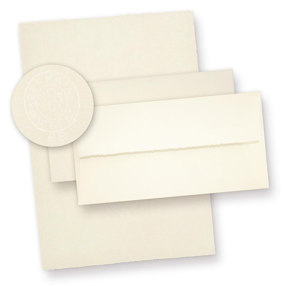 Bütten Briefpapier A4 mit Umschläge (20 Sets) mit Wasserzeichen ZERKALL Bütten Briefpapier