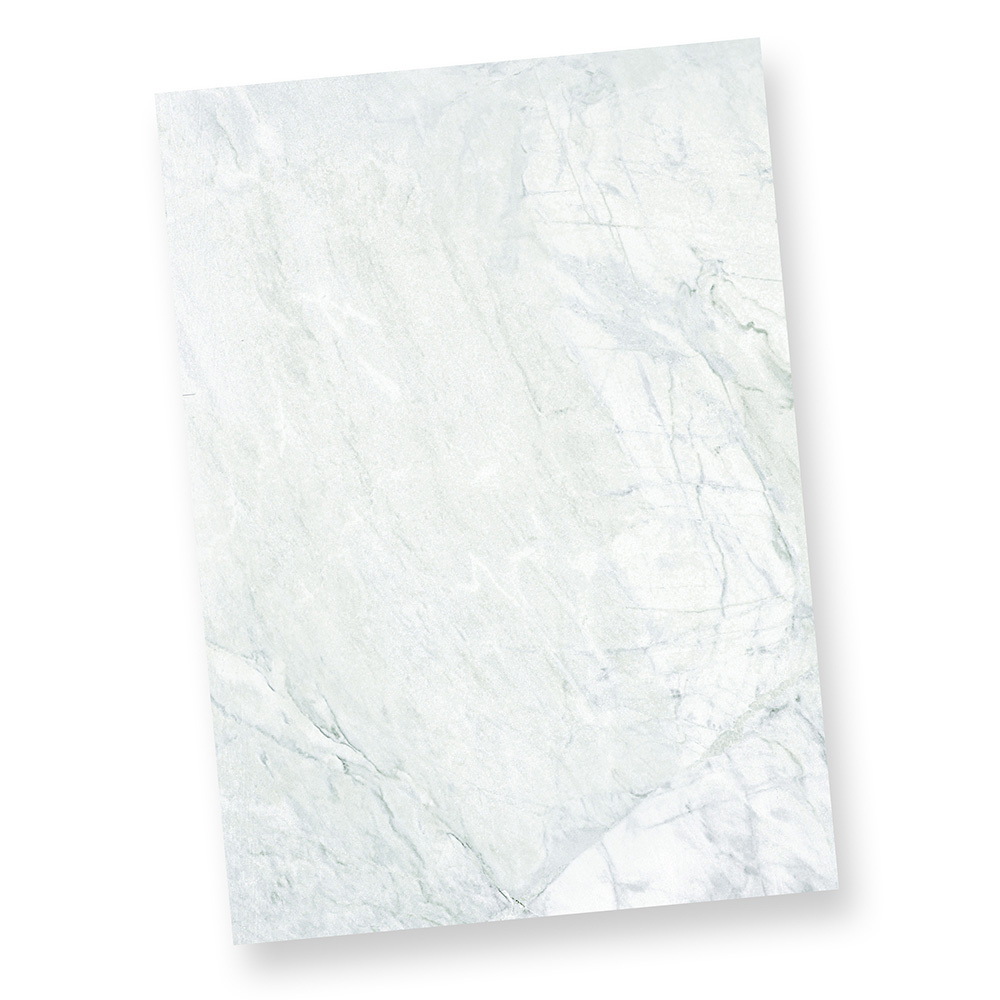 Briefbogen Granit grau blau (1.000 Stück) Marmorpapier DIN A4 beidseitig Marmorpapier