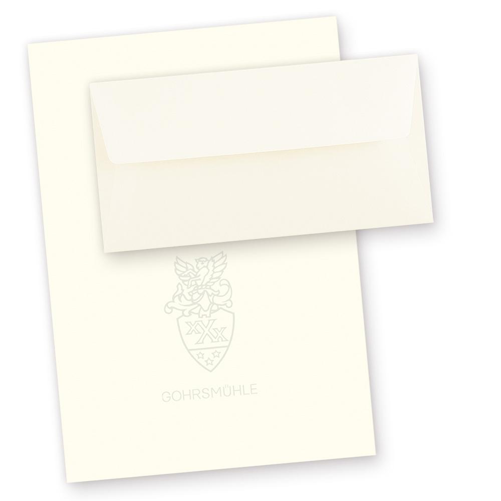 Briefpapier Set Gohrsmühle (50 Sets) mit Wasserzeichen DIN A4 90g
