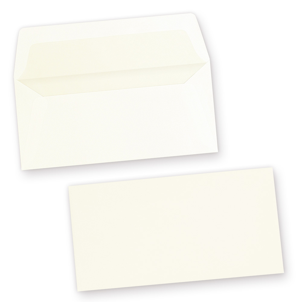 Feine GOHRSMÜHLE Briefumschläge (50 Stück) DIN lang gefüttert mit feinem Innenfutter, Markenumschläge