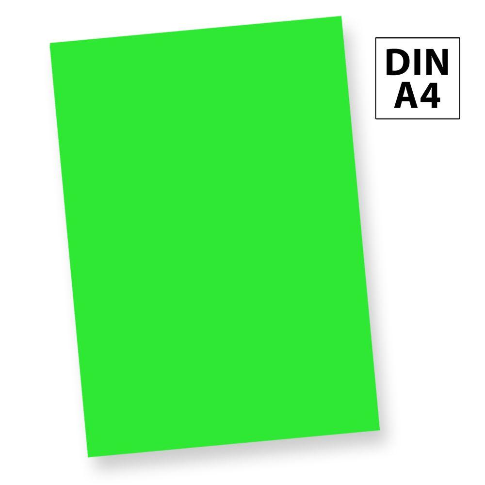 NEON Briefpapier Leuchtpapier Neonpapier Grün (250 Blatt) DIN A4