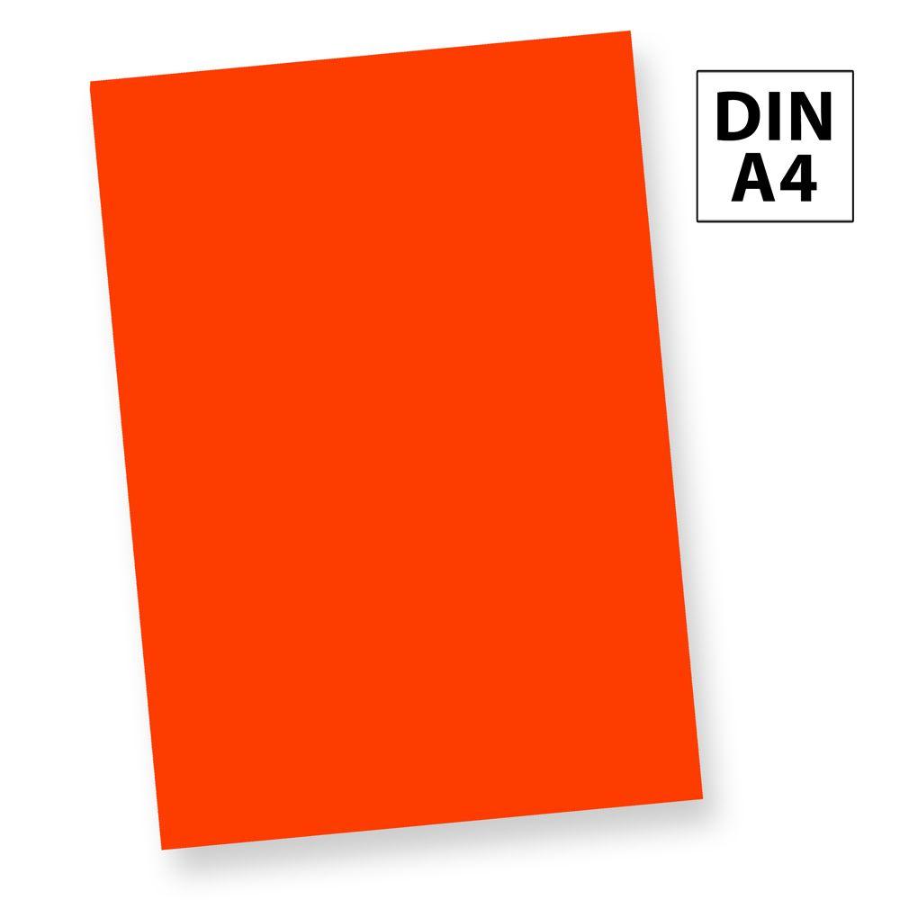 Neonpapier NEON Rot (250 Blatt) DIN A4, 80 g/qm farbiges Briefpapier, Leuchtpapier