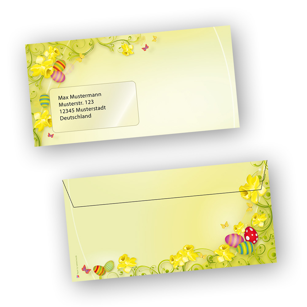 Kuverts Briefpapier Ostern Osternpapier  25 Sets inkl