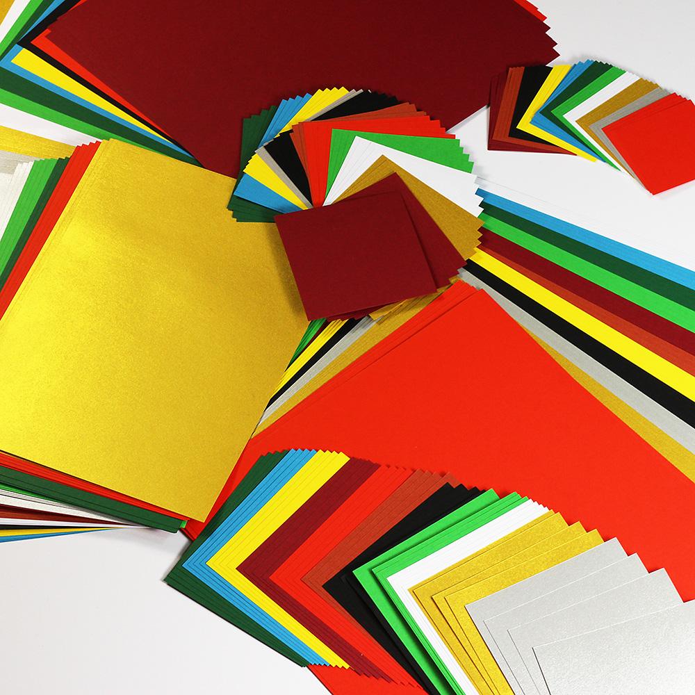 bastelpapier set weihnachten 11 farben x 7 formate je 4. Black Bedroom Furniture Sets. Home Design Ideas