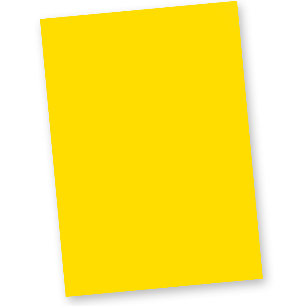 Briefpapier Gelb (100 Blatt) DIN A4 120g Tonpapier Bastelpapier