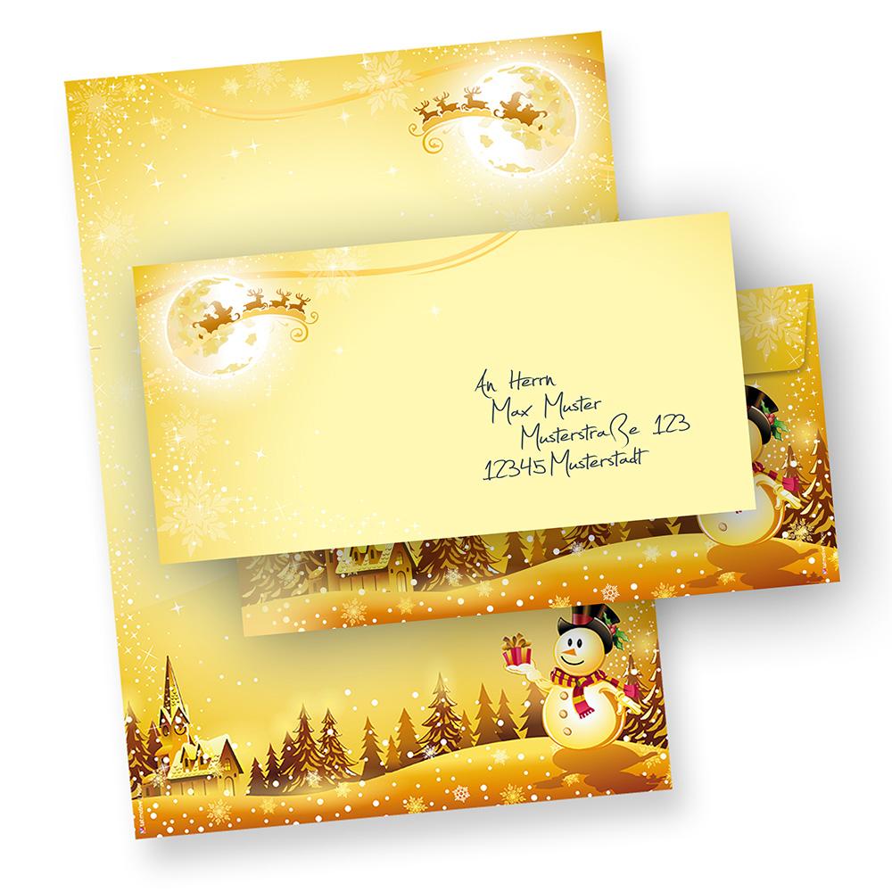 Briefpapier Set Schneemann (100 Sets ohne Fenster)
