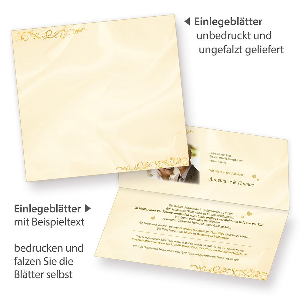 einladungskarten goldene hochzeit 20 karten einladungen