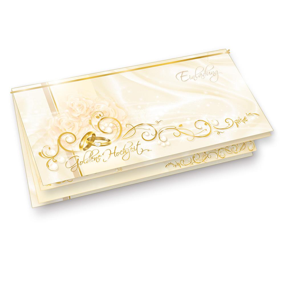 Einladung Goldene Hochzeit 10 Karten Einladungskarten selbst bedrucken ...